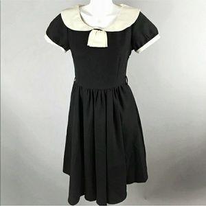 Lindy Bop Dress xs Black Sailor Collar